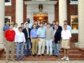 "Visiting at the Kappa Sig house on Friday during the ""Welcome Back"" Jambalaya Dinner for Alumni and guests with members of the SEC and Commissioners along with National Executive Director, Brother Mic Wilson, District Grand Master Brother Mike Busada, and Grand Master, Brother Kramer Sherman."