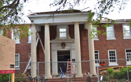 Progress continues on Kappa Sig House demolition